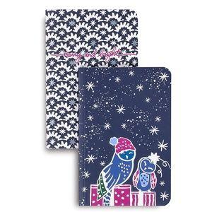 Vera Bradley Holiday Slim Journal Set of 2, Owl